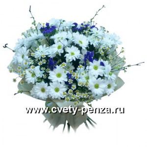 Букет №132 хризантема - 0шт, матрикари - 0шт