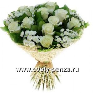 Букет №131 Хризантема - 0шт, Розка - 01шт